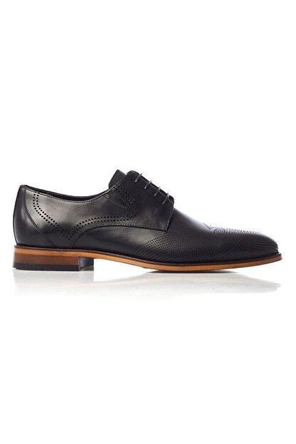 MARCOMEN Siyah Baskılı Hakiki Deri Bağcıklı Erkek Klasik Ayakkabı • A19eymcm0020