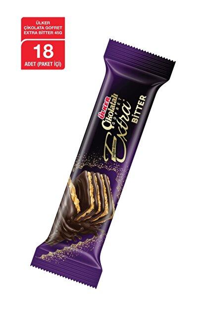 Ülker Çikolatalı Gofret EXTRA Bitter 45 Gr x18 Adet