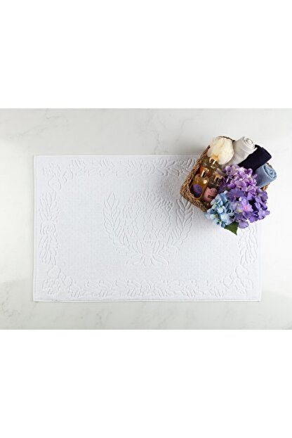 Madame Coco Daphne Ayak Havlusu - Beyaz - 60x90 Cm