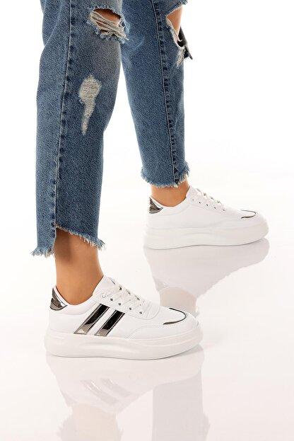 SOBY SHOES Kadın Günlük Rahat Ve Şık Bağcıklı Spor Ayakkabı Sneaker Soby11020031