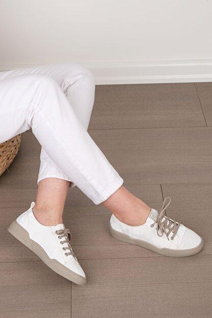 Marjin Kadın Beyaz Sneaker Spor Ayakkabı Range