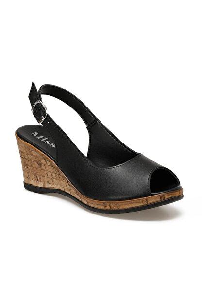 Missf DS20070 Siyah Kadın Sandalet 100531340