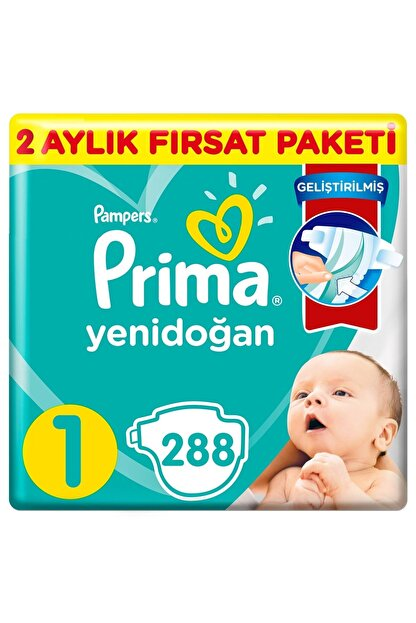 Prima Aktif Bebek 1 Beden Bebek Bezi 288 Adet