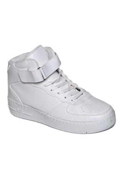 yenipapuc Unisex Beyaz Bilekli Sneaker Ayakkabı