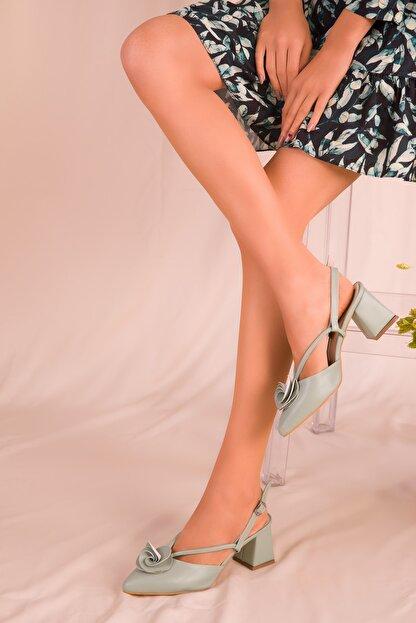 Soho Exclusive Mint Yeşil Kadın Klasik Topuklu Ayakkabı 15991