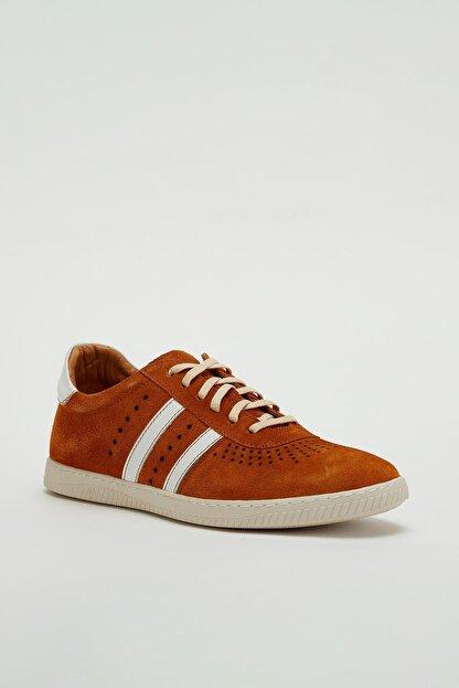 Muggo Erkek Kahverengi Hakiki Deri Sneaker Mgoslo04