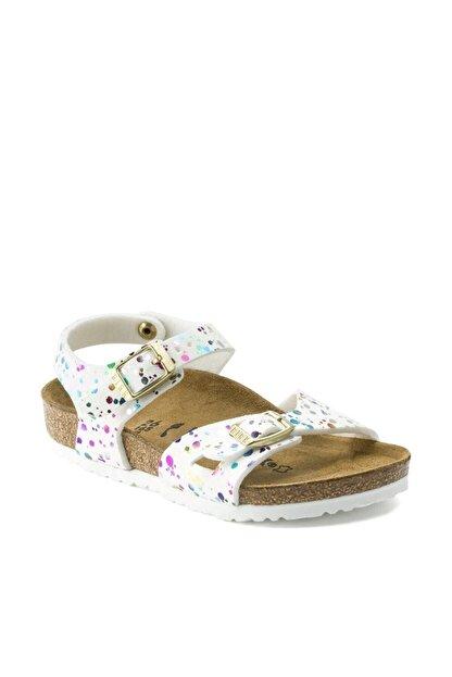 Birkenstock Unisex Çocuk Beyaz Konfeti Sandalet 1015987