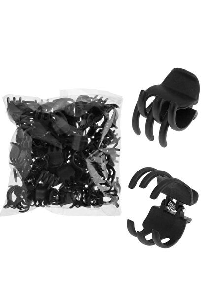 Asa Bebek Çocuk Üç Dişli Klasşk Model Siyah Mandal Toka -2,5 Cm-12 Adet