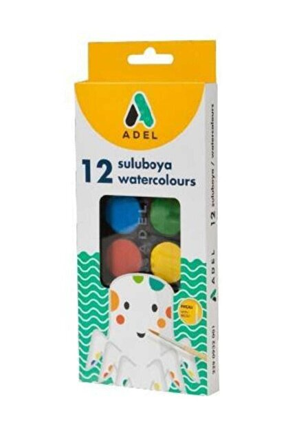 Adel 12 Renk Sulu Boya