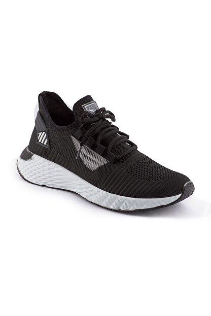 AKX 7 132 Siyah Beyaz Hava Akışlı Erkek Spor Ayakkabı