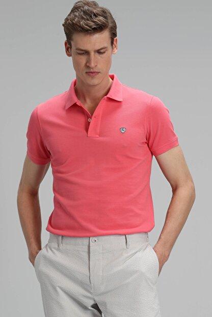 Lufian Laon Spor Polo T- Shirt Koyu Pembe