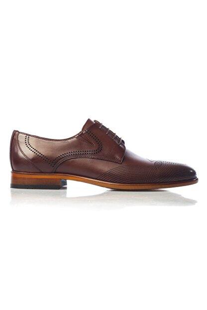 MARCOMEN Kahve Baskılı Hakiki Deri Bağcıklı Erkek Klasik Ayakkabı • A19eymcm0020