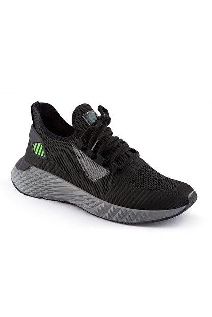 AKX 7 132 Siyah Füme Yeşil Hava Akışlı Erkek Spor Ayakkabı