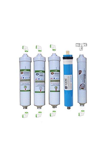 net su arıtma Ihlas Aura Cebilon Plus Uyumlu 5 Li Filtre Seti-vontron Membranlı Cebilon Filtresi