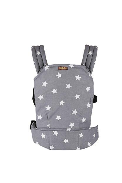 EGGBABY Ergonomik Kanguru Bebek Taşıma Gri Yıldız Desenli