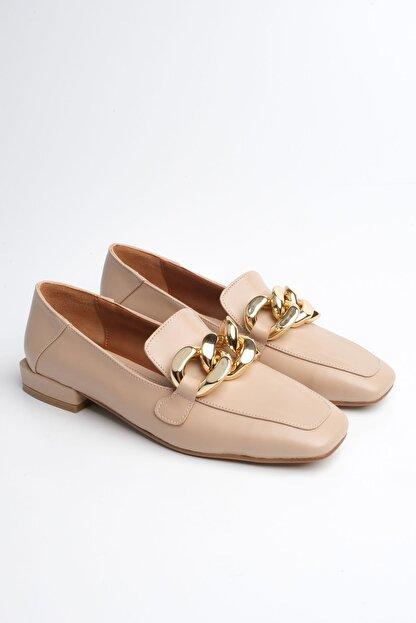 Marjin Kadın Bej Loafer Ayakkabı Modena