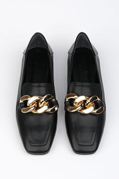 Marjin Kadın Siyah Loafer Ayakkabı Modena