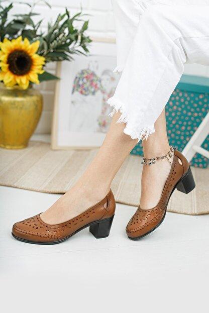 Diego Carlotti Hakiki Deri Kadın Günlük Klasik Topuklu Ayakkabı