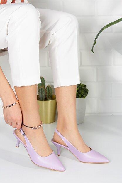 Alessia Shoes Kadın Lila Analin Topuklu Ayakkabı