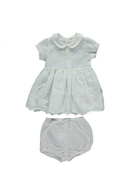 Bebetto Kız Bebek Bej Elbise Set 2li