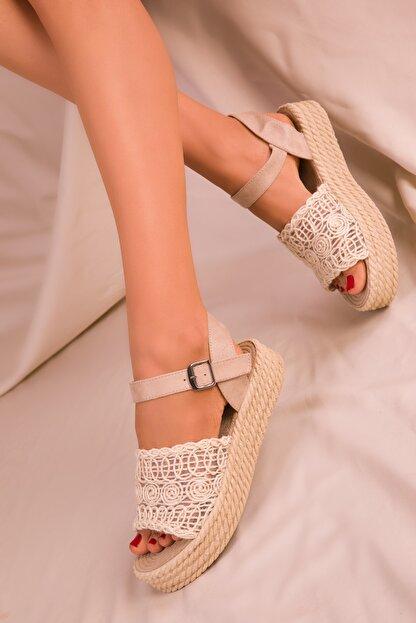 Soho Exclusive Bej Kadın Sandalet 15994