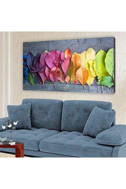 hanhomeart Mevsim Geçişi Yaprak Kanvas Tablo 60x120 cm
