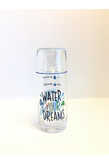 DEKOVİDİ Water Your Dreams Yazılı Başucu Sürahi Karaf Seti