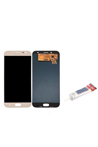 MİOTECH Samsung Galaxy J730 J7 Pro Uyumlu Lcd Ekran Dokunmatik Yapıştırıcılı Gold Panel Ekran