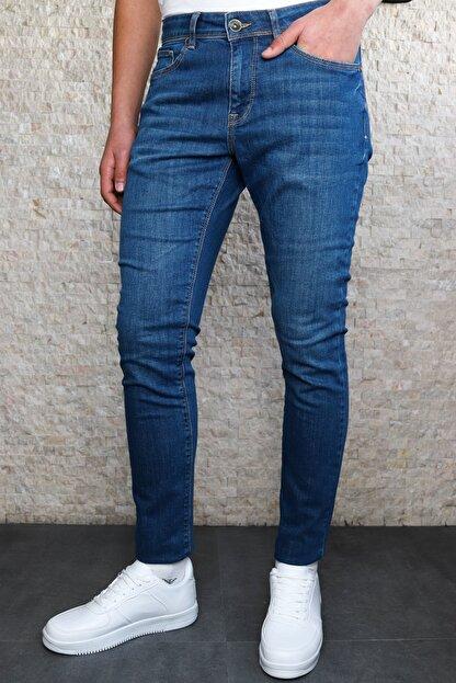 HLT JEANS Erkek Mavi Slim Fit Pantolon Hlthe001943