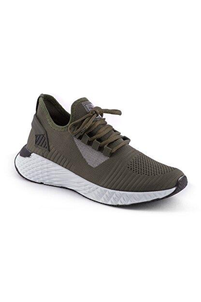 AKX 7 132 Haki Beyaz Hava Akışlı Erkek Spor Ayakkabı