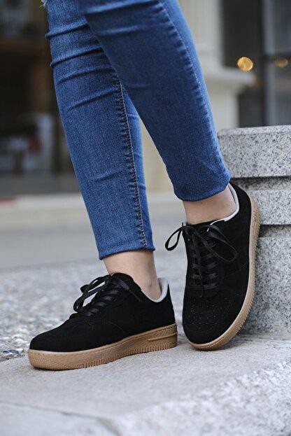 DARKLOW Unisex Siyah Süet Sneaker