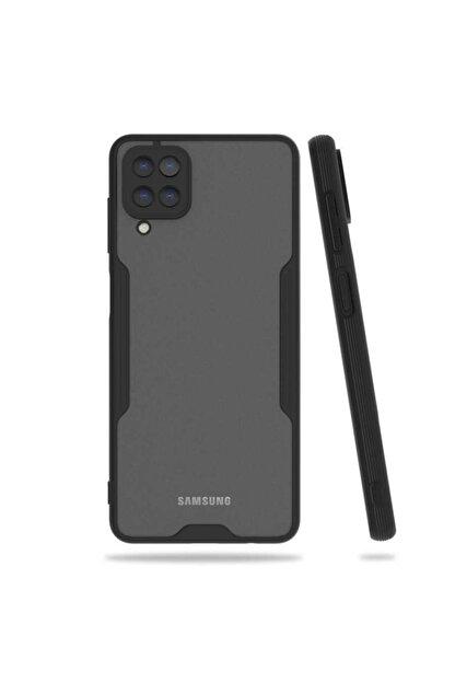 Samsung A12 Kılıf Kamera Korumalı Mat Renk Silikon Parfe Model Siyah