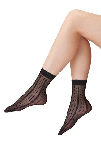 EMINNA Siyah Soket Çorap