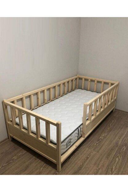 Baby Kinder Kahverengi Roofless Montessori Bebek ve Çocuk Karyolası