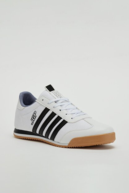 Muggo Erkek Beyaz Bağcıklı Sneaker Mgbarney02