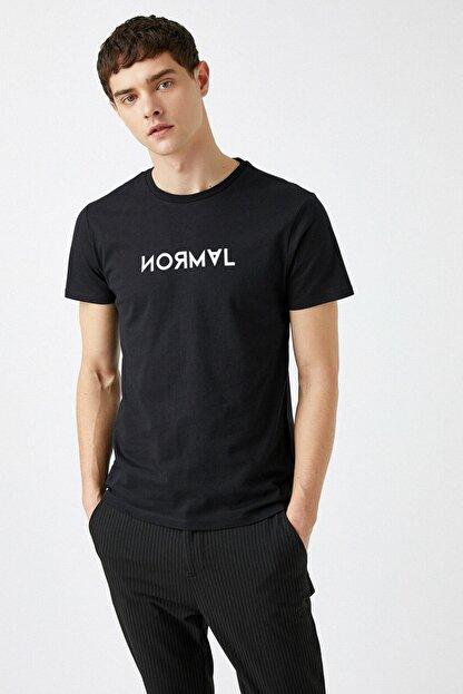 Koton Erkek Siyah T-Shirt 1YAM11427CK