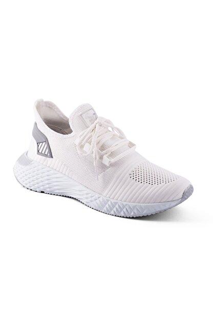 AKX 7 132 Beyaz Beyaz Hava Akışlı Erkek Spor Ayakkabı