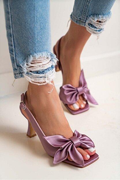 akerler Kadın Lila Fiyonklu Sandalet