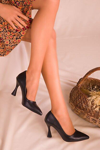 Soho Exclusive Siyah Kadın Klasik Topuklu Ayakkabı 16002