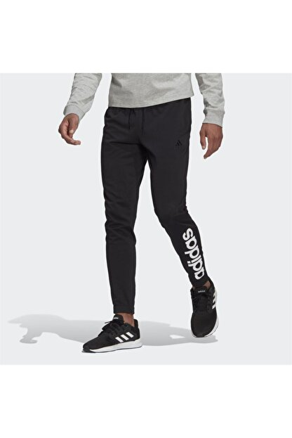 adidas Erkek Siyah Logo Baskılı Eşofman Altı