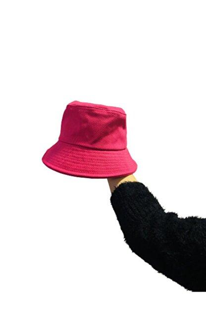 Orçun Özkarlıklı Düz Fuşya Pembe Kova Şapka Balıkçı Kadın Şapka Bucket Hat