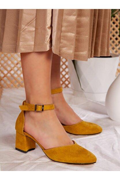 ayakkabıhavuzu Kadın Hardal Topuklu Ayakkabı