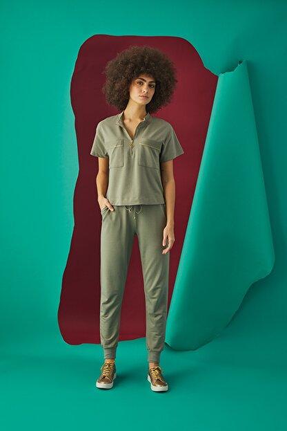 GİZZEY Kadın Haki Pantolon Takım 20592