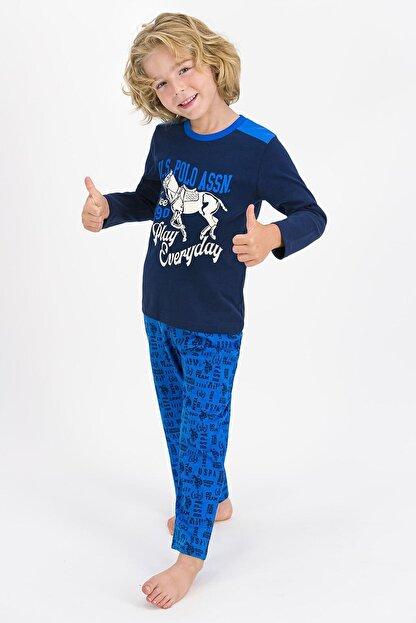 US Polo Assn U.s. Polo Assn Lisanslı Lacivert Erkek Çocuk Pijama Takımı