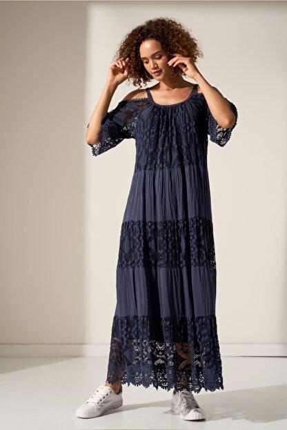 Camena Omzu Açık Dantelli Elbise 2019070500202