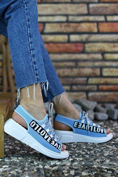 Riccon Mavi Kadın Sandalet 0012999