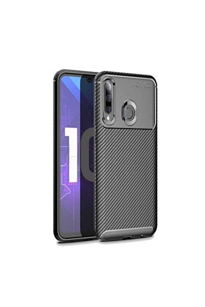 ACK Huawei Honor 20 Lite Kılıf Slim Fit Kamera Korumalı Karbon Silikon Siyah
