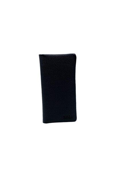 EMİNSA DERİ Siyah Deri Telefonluk Kartlık