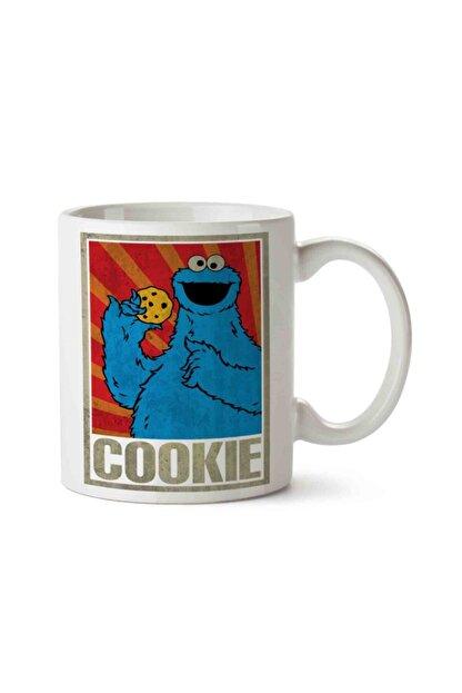 ART HEDİYE Cookie Monsters Kurabiye Canavarı Baskılı Kupa Bardak