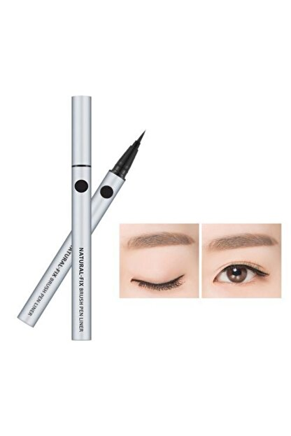 Missha Doğal Bitişli Kalem Liner - Natural Fix Brush Pen Liner (Black) 0.6g 8806185797993